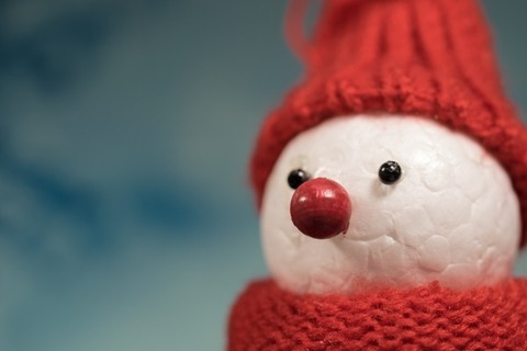 snowman-in-red-knit-hat