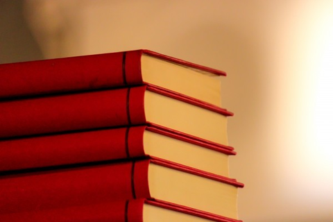books-stack-red-library-education-study