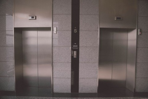 elevator-a-beautiful-view-building-door-within