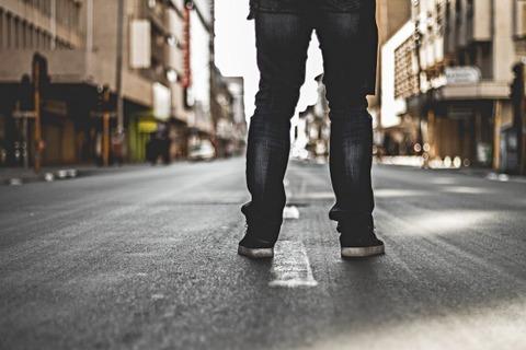 man-road-street