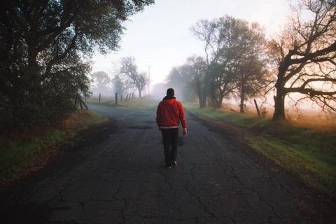 roads-man-morning